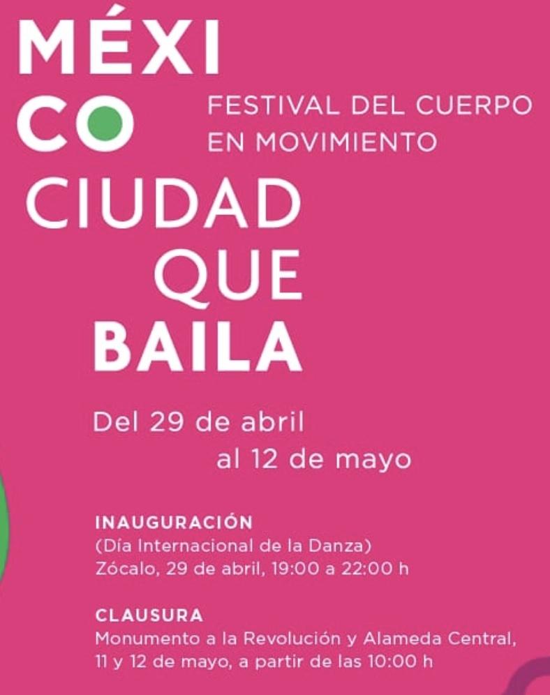 """Presentan Festival del Cuerpo en Movimiento """"México Ciudad que Bella"""""""