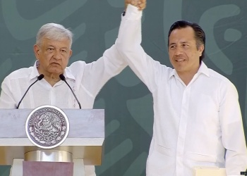 López Obrador arropa al gobernador de Veracruz