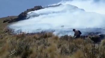 Continúan trabajos para combatir incendio en La Malinche