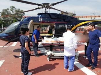 Hombre con infarto, es trasladado por cóndores a hospital de Iztapalapa