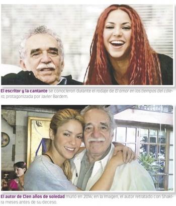 Shakira presume en Instagram amistad con Gabo