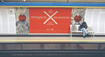 El Quijote engalana metro español