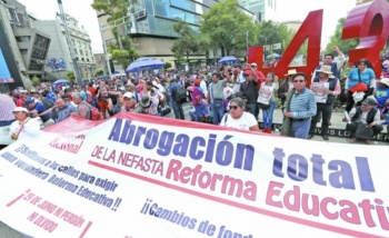 Alertan sobre poder de movilización de la CNTE