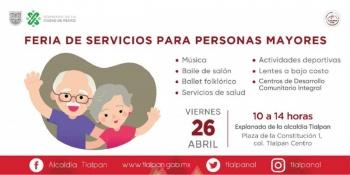 Se llevará a cabo la Feria de Servicios para Personas Mayores en Tlalpan