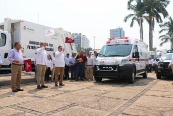 PEMEX entrega unidades motrices a municipios de Tabasco