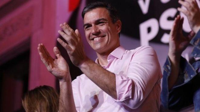 Gana PSOE la tercer elección en España