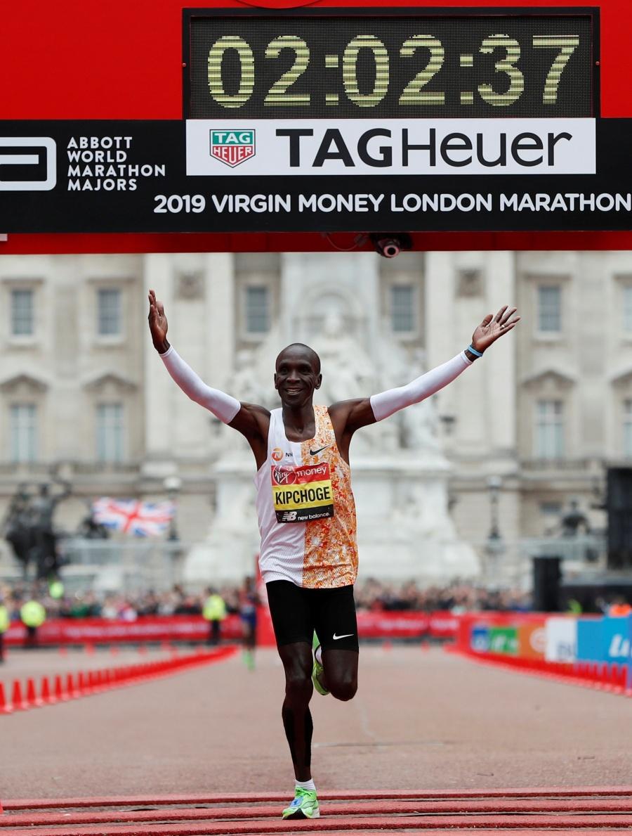 Keniata Eliud Kipchoge, máximo ganador de la maratón de Londres
