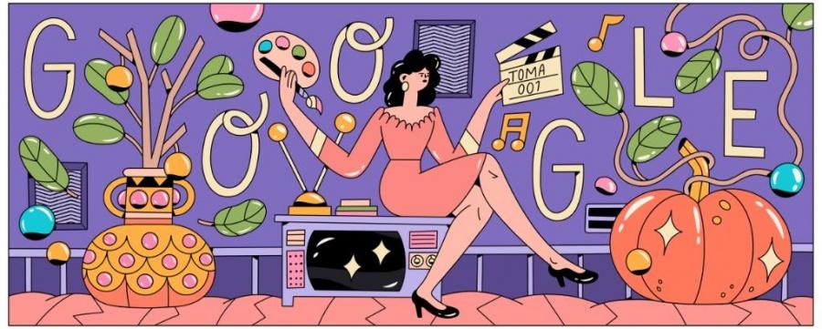 """Recuerdan a Evangelina Elizondo con """"doodle"""""""