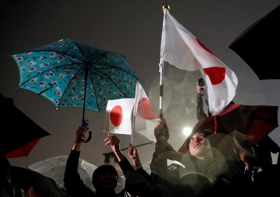 Japoneses celebran inicio de nueva era del emperador Naruhito
