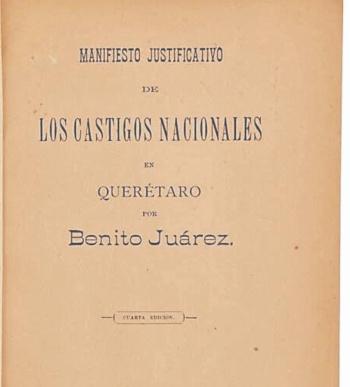 Subastan la carta de Juárez que justifica muerte de Maximiliano
