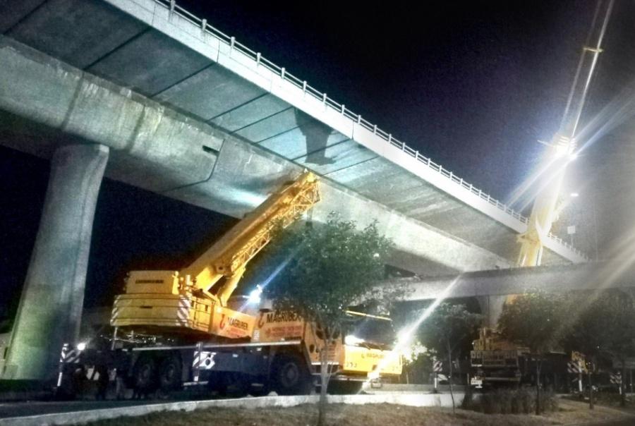 Reabren circulación en Periférico tras retiro de puente peatonal