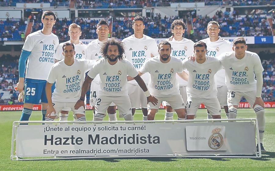 En el Bernabéu rinden homenaje a Iker Casillas