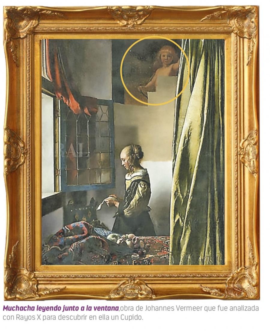 Rayos X revelan un Cupido en célebre pintura de Vermeer