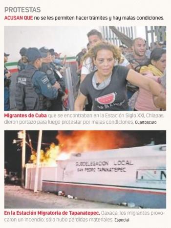 Otra vez se amotinan en Oaxaca y Chiapas