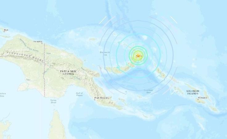 Emiten alerta de tsunami en Nueva Guinea tras terremoto de 7.5 grados