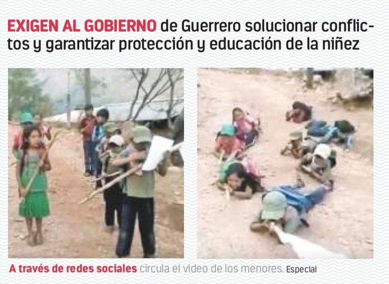 CNDH critica uso de niños policías comunitarios