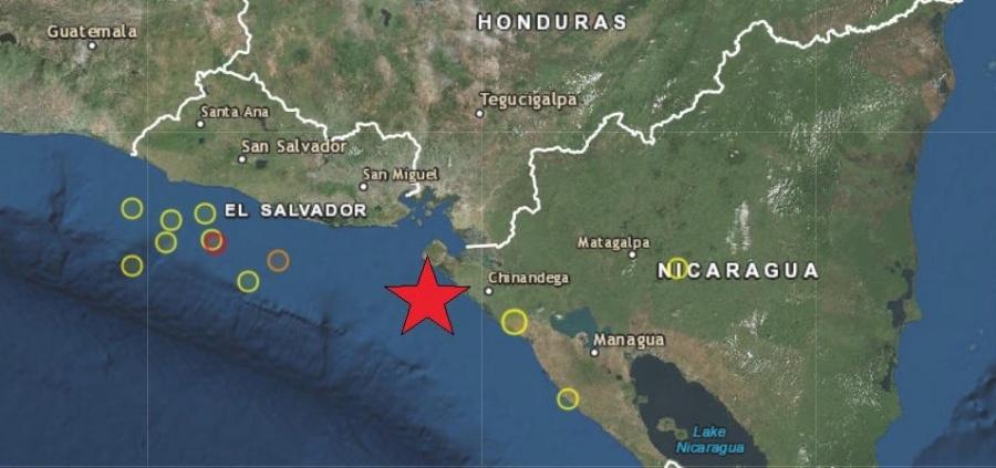 Sismo sacude a El Salvador y Nicaragua