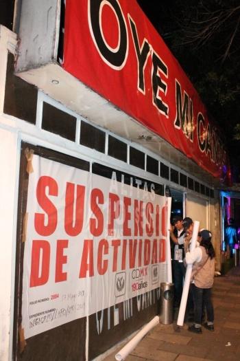 Suspende INVEA actividades en cinco establecimientos mercantiles de la Benito Juárez