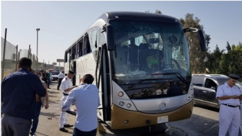 Hay 17 heridos tras explosión de autobús cerca de pirámides de Giza