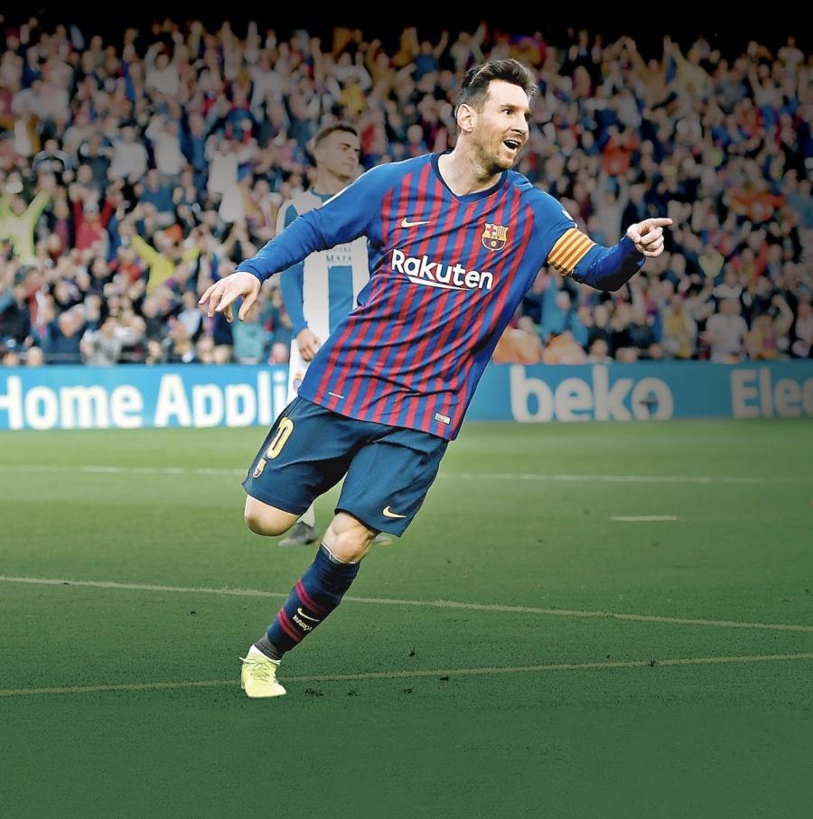 Messi logra 3 títulos al hilo desde la era Hugol