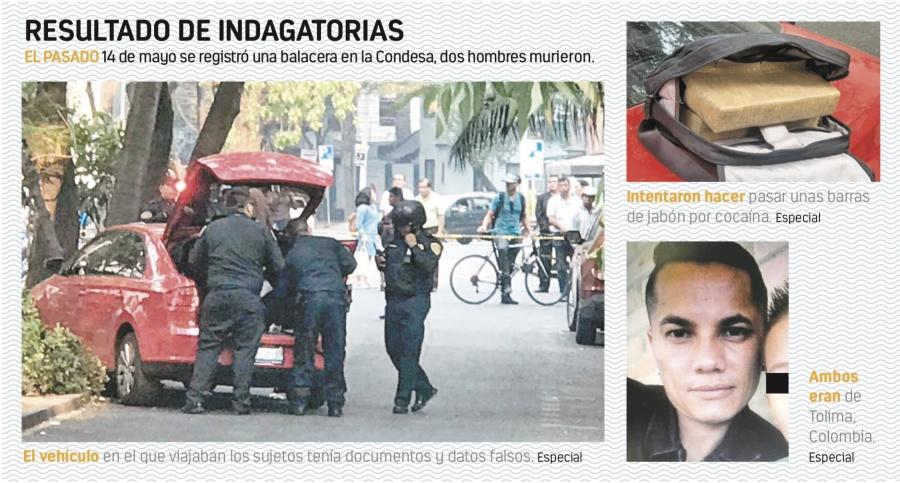 Colombianos los Narcos ejecutados en la Condesa