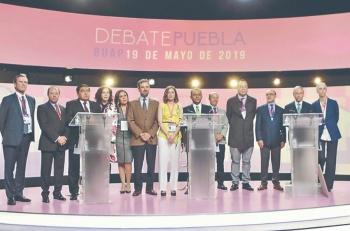 En primer debate de Puebla PAN y Morena se enfrentan