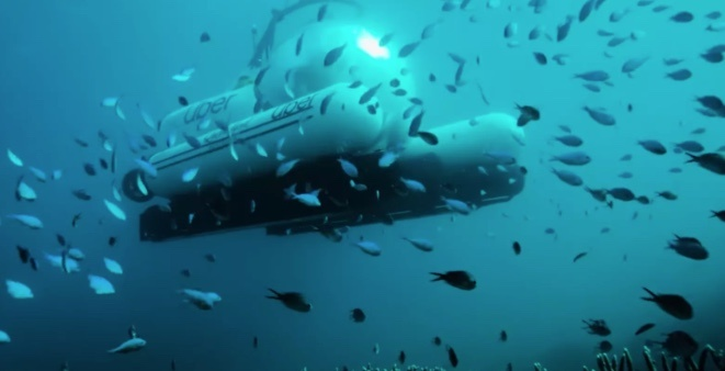 Uber lanza submarino para viaje en la Gran Barrera de Coral