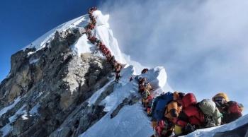 Tráfico en el Everest