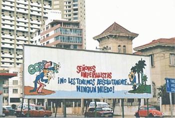 Cuba derriba símbolo de la Batalla de Ideas