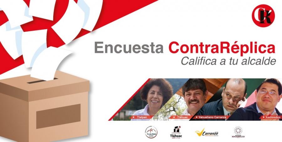 Califica el rendimiento de tu Alcaldía: Tlalpan, Tláhuac, Venustiano Carranza, Xochimilco