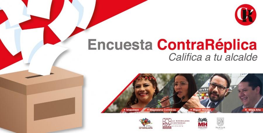 Califica el rendimiento de tu Alcaldía: Iztapalapa, Magdalena Contreras, Miguel Hidalgo, Milpa Alta