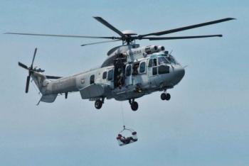 Cae helicóptero de la Secretaría de Marina en San Luis Potosí