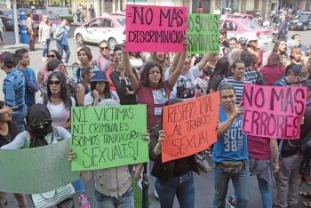 Trabajadoras Sexuales protestan vs. Legislación