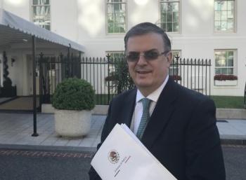 Presenta Ebrard programa para Centroamérica en la Casa Blanca