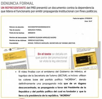 El PAN y PRD buscan sanción para Torruco