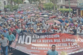 CNTE amenaza, en las calles hasta abrogar ley