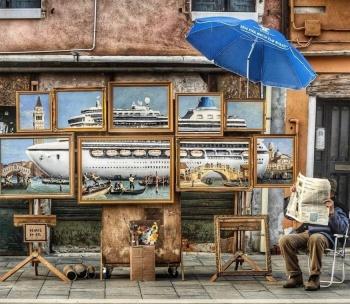 Policía de Venecia detiene intervención de Banksy