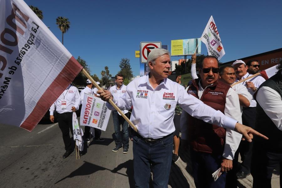 Continúan cierres de campaña de candidatos en Baja California
