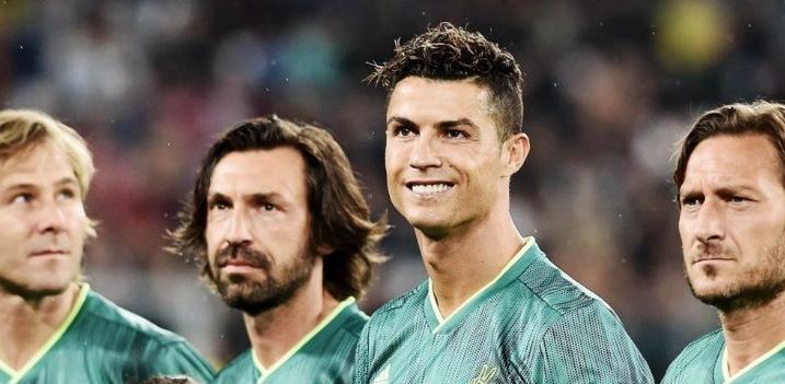 Cristiano Ronaldo recrea chilena en partido benéfico