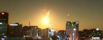 Cae supuesto meteoro en Uruapan