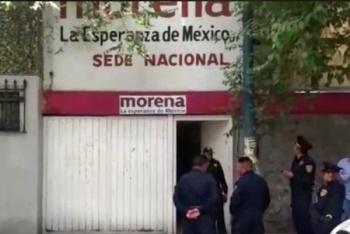 Desalojan sede nacional de Morena por paquete sospechoso