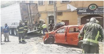 Choque de tráiler deja 4 muertos en Álvaro Obregón