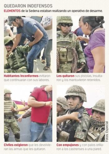 Por Huacana, militares exigen ley de protección