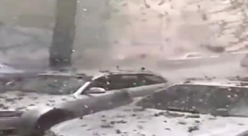 Granizada deja grandes daños en Rumania