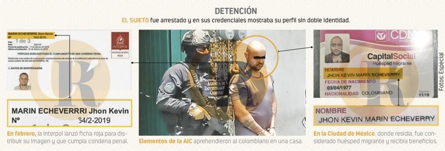 Buscado por Interpol... Aquí es huésped migrante