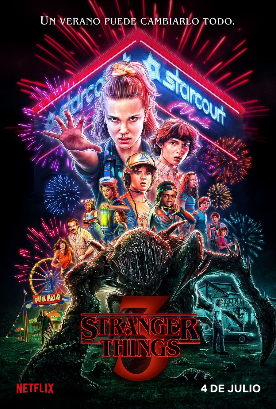 Lanzan primer póster de la tercera temporada de Stranger Things