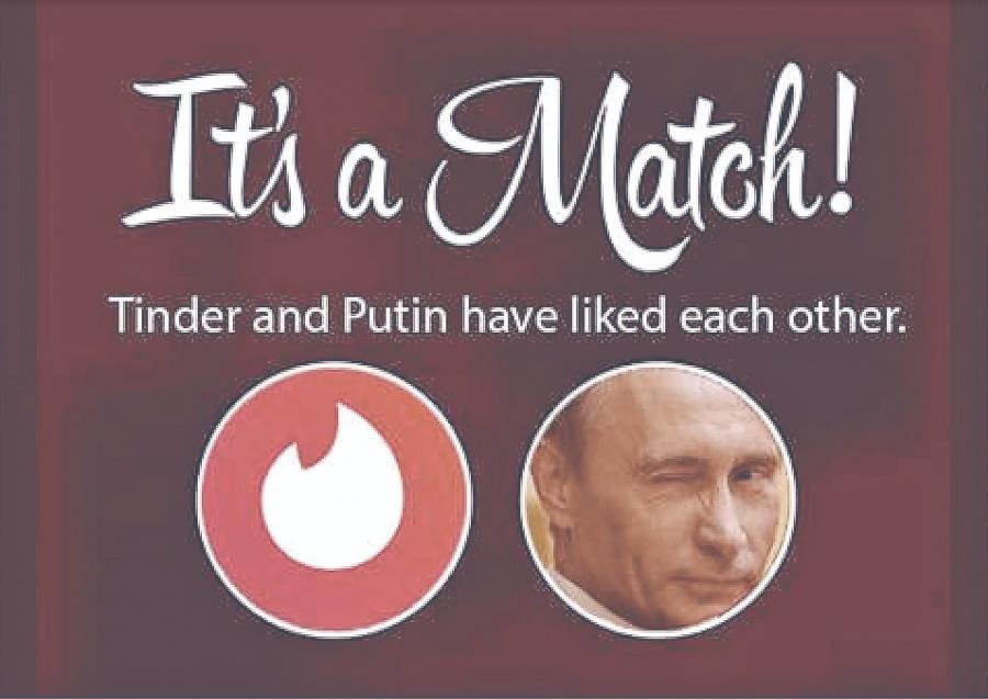 Putin obliga a Tinder a revelar datos y mensajes de usuarios