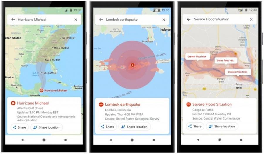 Google Maps ahora te alertará sobre desastres naturales
