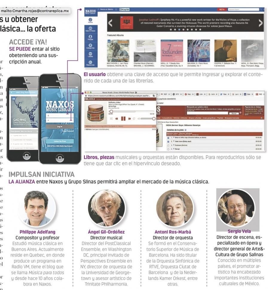 Lanzan en México biblioteca digital de música clásica con 2 mil álbumes