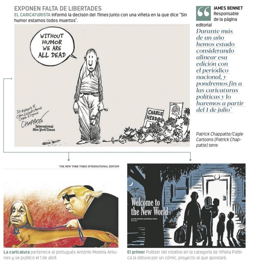 Tras cartón de Netanyahu y Trump, New York Times pone fin a caricaturas